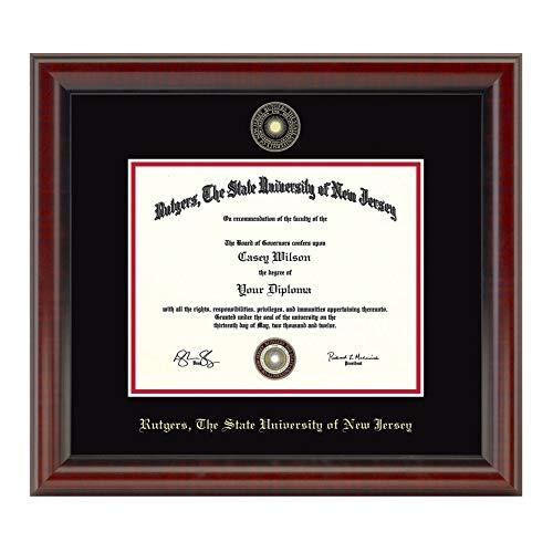 - M. LA HART Rutgers University Masters/PhD Diploma Frame, The Fidelitas