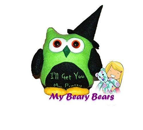 Wicked Witch Holiday Decor Witch Owl Oz Owl Halloween D/écor Wicked Memory Toy Keepsake Toy Mini Owl Memory Bear Halloween Toy