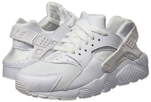 white Bianco pure white Huarache Unisex A Collo Platinum Basso Sneaker Bambini Run Nike vqwU8