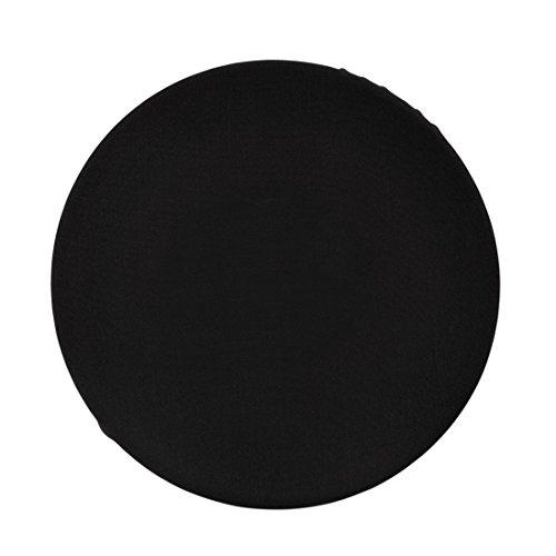 Enerhu 2 Pack Cloth Bar Stool Covers Round Stretchy Fabric Barstool Cover Slipcover No Padding 12.2-10.2inch/31-26cm Black