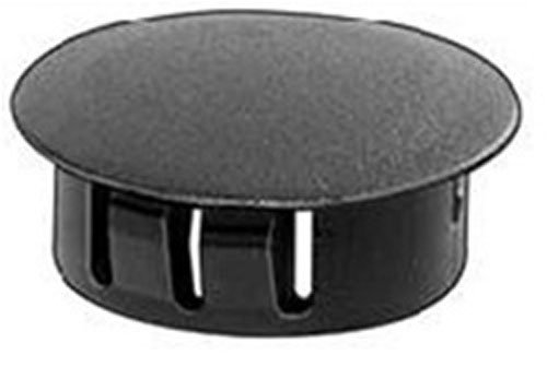 50 Black Nylon Locking Hole Plugs 3/4