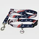 Hunter Manufacturing HUN-4100-14-1100 Atlanta Braves MLB Dog Collar & Leash Set