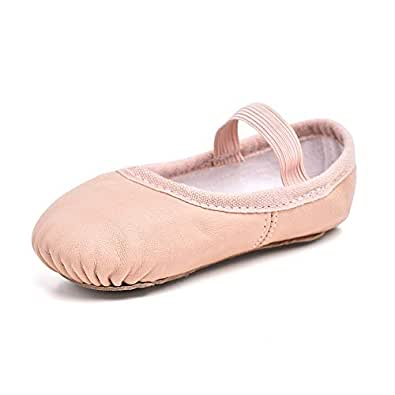 STELLE Premium Leather Ballet Slipper/Ballet Shoes(Toddler/Little Kid) Pink Size: 1 Big Kid