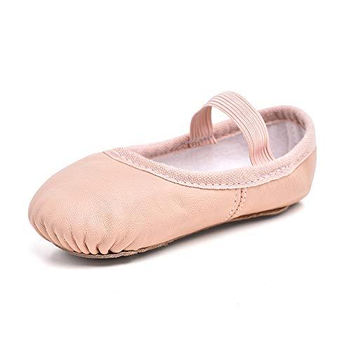 STELLE Premium Leather Ballet Slipper/Ballet Shoes (Toddler/Little Kid) (5MT, Ballet Pink)