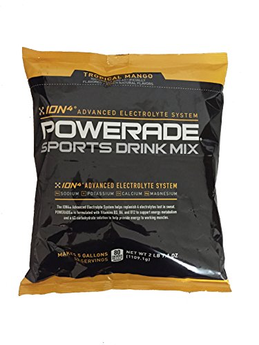 Powerade Tropical Mango Powder Drink Mix, 5 Gallon Bag