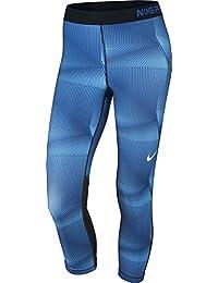 Nike Women's PRO COOL Capris Blue/Black 830689 478