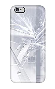Hot 3353203K13141839 Tpu Phone Case With Fashionable Look For Iphone 6 Plus - Silver