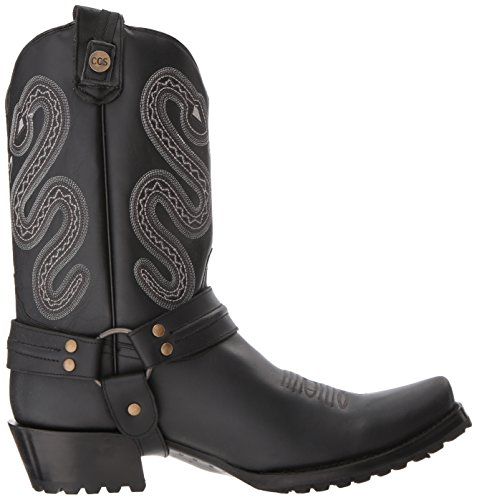 Sting Mens Black Boot Roper Boot Mens Sting Western Western Roper ztxwqFw