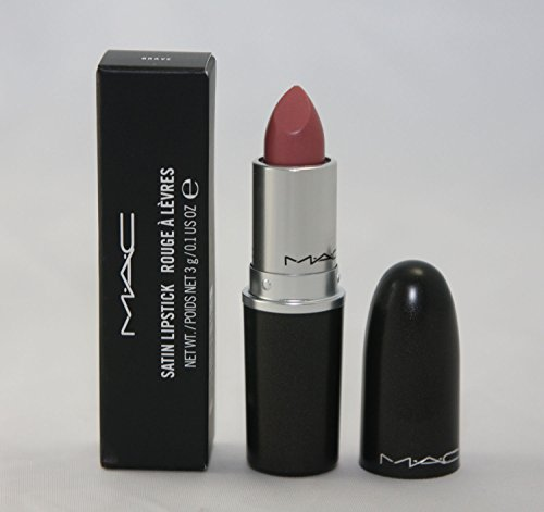 MAC Satin Lipstick BRAVE (Pink-beige with white pearl)