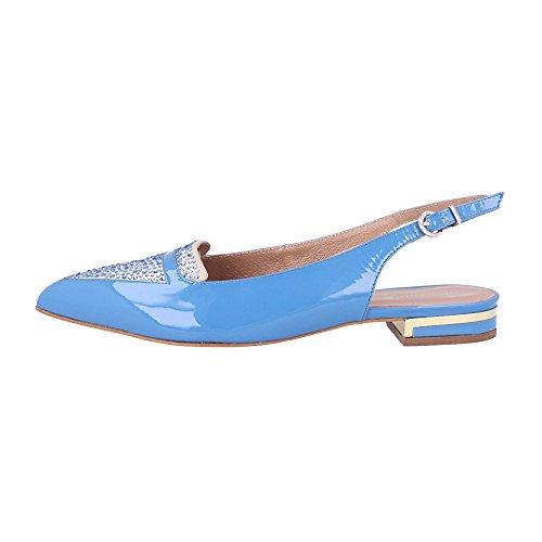 Bleu 35 Botella p chaussures Plates Taille Combiné Roberto Couleur p 0zpqxdw