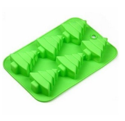 DD-life 6 Christmas Tree Silicone Cake Baking Mold Cake Pan Handmade Soap Moulds Biscuit Chocolate Ice Cube Tray DIY Mold