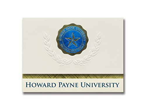 (Signature Announcements Howard Payne University Graduation Announcements, Platinum style, Elite Pack 20 with Howard Payne U. Seal)