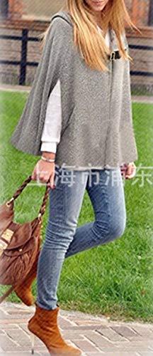 Tallas Bolsillos Grandes Casuales Botonadura Mujeres Gabardina Sólido Parkas Fashion Abrigos Abrigo Otoño Sin Encapuchado Mujer Grau Mangas Battercake Lana Primavera Elegantes Color Con Poncho nqRxPIwvH