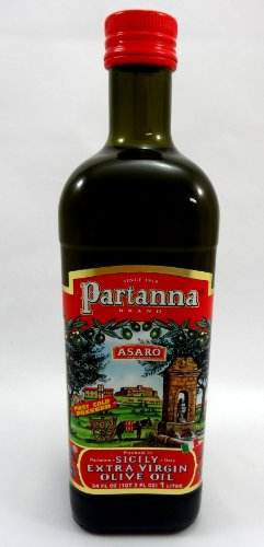 (Partanna Sicilian Extra Virgin Olive Oil 1 Litre Bottle by Asaro Brothers)