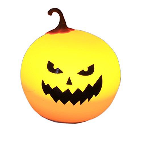 Dawn Yang Halloween (XF Night Lights Night Lights - Creative Halloween Pumpkin Gift Table Lamp, Silicone Charging Decompression Children's Room Bedroom Dormitory Home Night Light 13cmX 13cm X14.5cmm Lighting & Ceiling)