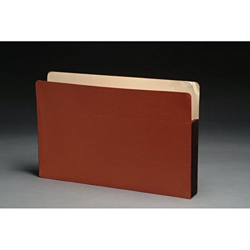 Standard TOP TAB Expansion Pockets, Chocolate Brown Tyvek Gussets, Legal Size, 3-1/2'' Expansion (Carton of 100)