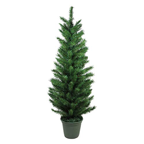 (Northlight 4' Potted Virginia Pine Artificial Walkway Christmas Tree - Unlit)