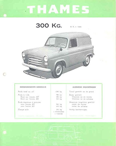 (1956 Ford Thames Van Brochure Dutch Export Belgium)
