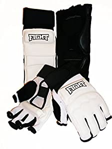 MMA Kickboxing Sparring Set Glove Hand Foot Protector for Martial Arts Boxing Punch Bag Sparring Karate Safe Taekwondo Foot Gear for Men Women Children Leather S-XL
