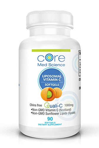 (Optimized Liposomal Vitamin C SOFTGELS 1000mg/dose -30 Servings - 90 softgels | China-Free Quali®-C Scottish Ascorbic Acid | High Absorption Immunity & Collagen Booster Supplement | Non-GMO | No Soy)