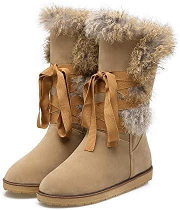 shoes Botas Altas hasta la Rodilla Botas de Nieve para Mujer, Superior Esmerilado Forro Esponjoso Botas de algodón cálido para Mujer, 34-39 Botas largas Planas Casuales para Mujer  GPVGX