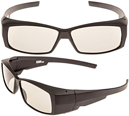 Better quality passive 3D glasses, for LG, Panasonic, Vizio and all Passive 3D TVs & RealD 3D Cinema glasses (pack of 2). Not for Active 3D and projectors.