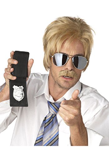 [8eighteen Ace Ventura Detective Costume Wig and Moustache (Blonde)] (Ace Ventura Halloween Costume Wig)