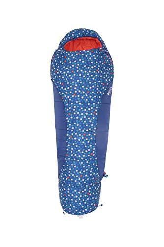 Mountain Warehouse Apex Mini Patterned Kids Sleeping Bag -Lightweight Dark Blue