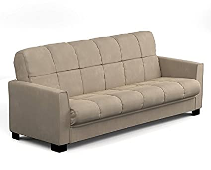 Awesome Sofa Sleeper Bed Full Size Double Convert A Couch Futon Pillowtop  Microfiber (Khaki