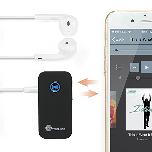 TaoTronics Bluetooth Receiver Car Kit Portable Wireless 3.5mm Audio Adapter