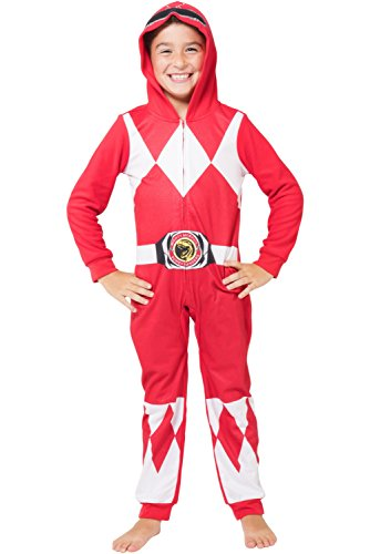 Power Ranger Big Boys' Critter Pajama, Red