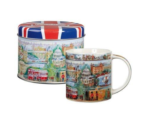 James Sadler City of London Mug in Tin, Fine China by James Sadler