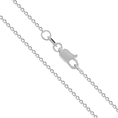Solid White Cable Chain Necklace