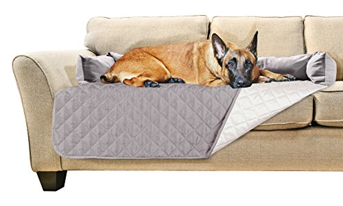 (FurHaven Pet Furniture Cover | Sofa Buddy Reversible Furniture Cover Protector Pet Bed for Dogs & Cats, Gray/Mist, X-Large)
