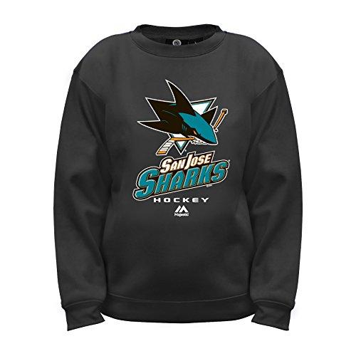 NHL San Jose Sharks Long Sleeve Fleece Crew Neck Top, Large, Black (San Sweater Jose Sharks)