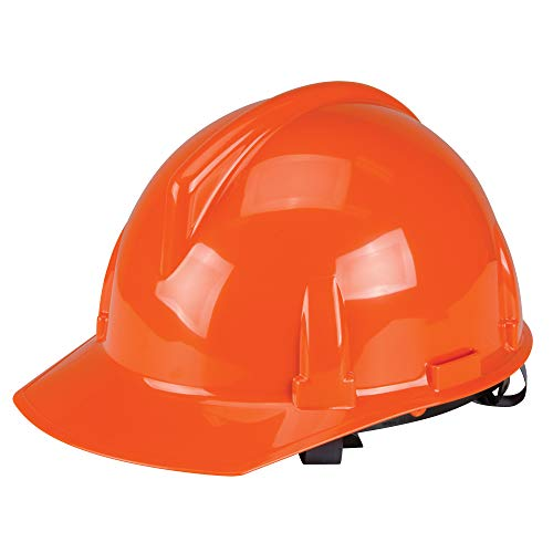 MSA 454725 Topgard Polycarbonate Protective Non-Slotted Cap with 1-Touch Suspension, Standard Size, Orange ()