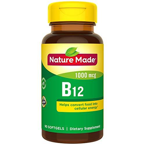 Nature Made Vitamin B12 1000 mcg. Softgels 90 Ct (Vitamin B-12 Tablet Vitamins)
