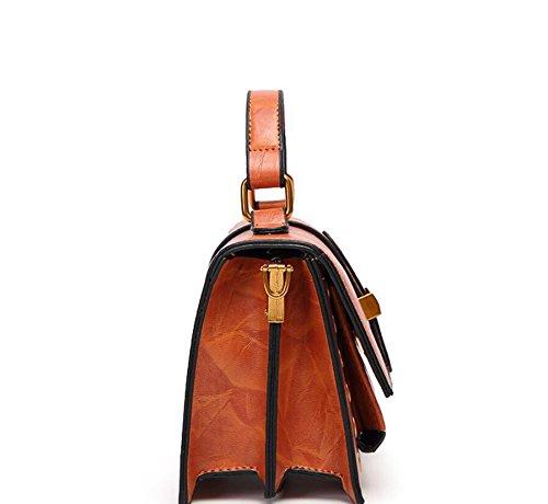 Nueva Hebilla De De Coreana Resorte Una Bolso Moda Gules Bolsa Paquete Pequeño Xiekua Meaeo Paquete brown Magnética Hombro HwFq5x1fR