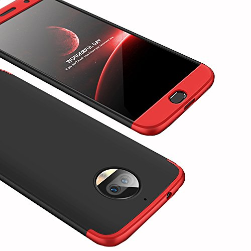 Moto G5S Plus Case, Ranyi [Full Body 3 in 1] [Slim & Thin Fit Tightly] [360 Degree Protection] Premium Hybrid Bumper 3 in 1 Electroplated Hard Case Cover for Motorola Moto G5S Plus (r/b/r)