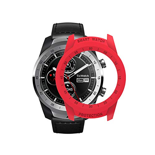 TicWatch Pro Case SIKAI Protective Anti-Scratch Bumper Cover for TicWatch Pro Smart Watch Ultra-Light Multi-Colors (Red)