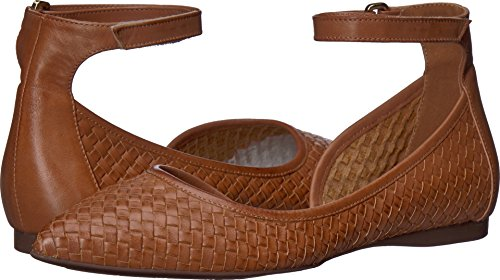 French Sole Women's Adrienne Cognac Woven Leather 9.5 M US (Footwear Woven Leather)