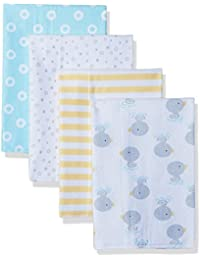 Unisex Baby 4 Pack Flannel Burp Cloth