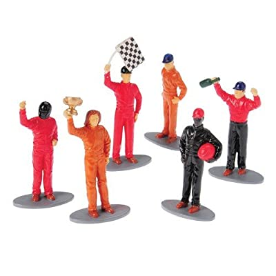 Race Car Driver Figures, Set of 12 (Six Assorted Poses)