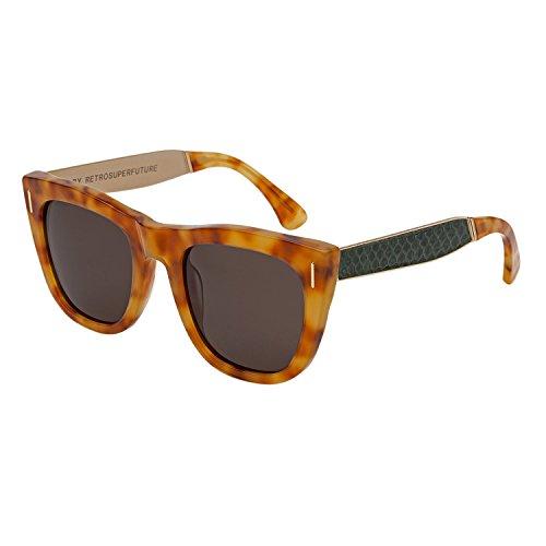 RETROSUPERFUTURE Super Gals Sinner Sunglasses SU7JL Brown Green Snake Skin - Sunglasses Super Gals