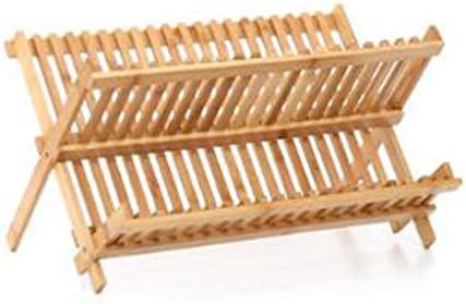 竹ディッシュラックドレインはキッチンダブル食器食器収納ラックエア食器棚竹換気ラックラック