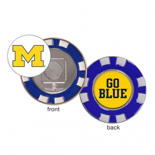 Michigan Wolverines Go Blue Ball Marker Challenge Coin Poker Chip Metal by Wincraft