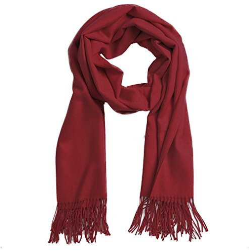 Cashmere Scarf For Men And Women   Super Soft And Warm 82    23  Oversize Winter Wool Wrap Shawl  Wine Red