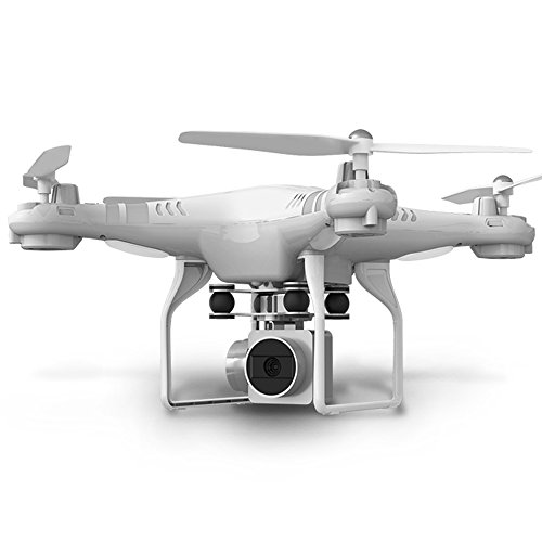 RC Drone RTF With 1080P HD Camera Quadcopter One Key Auto Return Height Holding - White by KAIM