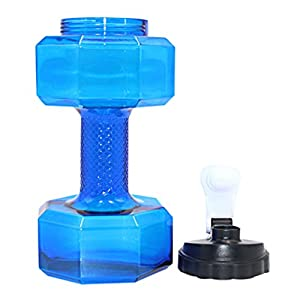 HongXander 2.2 L PETG Dumbbells Large Water Bottle Free Sports Fitness Gym Kettle (Blue)