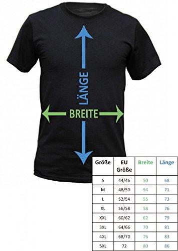 Fun T-Shirt für den Biker und Motorradfahrer - Schräger Typ - Inkl. Urkunde ' Biker 1. Klasse ' als Geschenk - Farbe schwarz, Größe:4XL